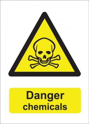 Danger Chemicals Sign