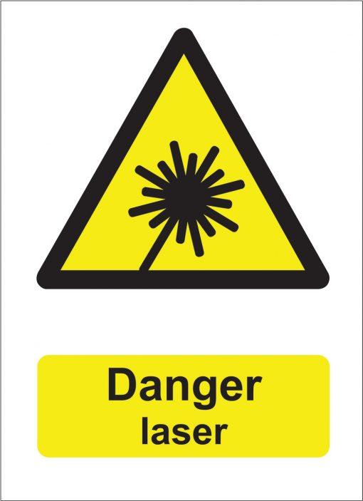 Danger Laser Sign