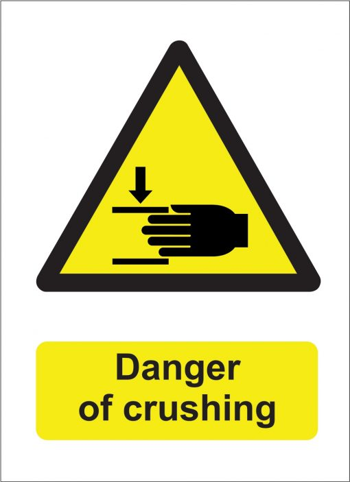 danger of crushing sign