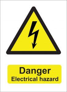 danger electrical hazard sign