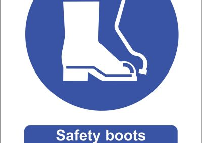 Safety boots must be worn in this area sign