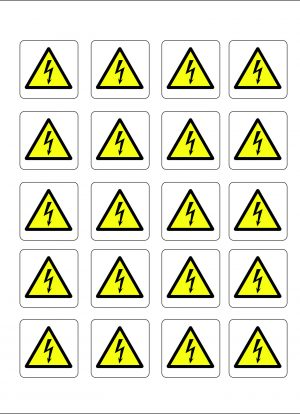Danger Flash Labels