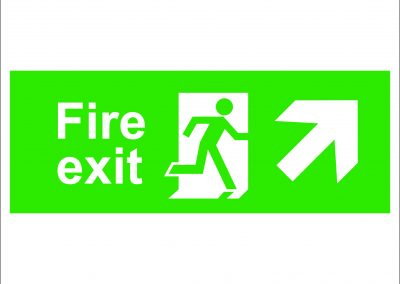 fire exit running and arrow right up