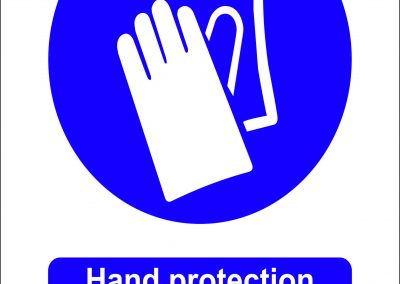 hand protection must be worn in this area