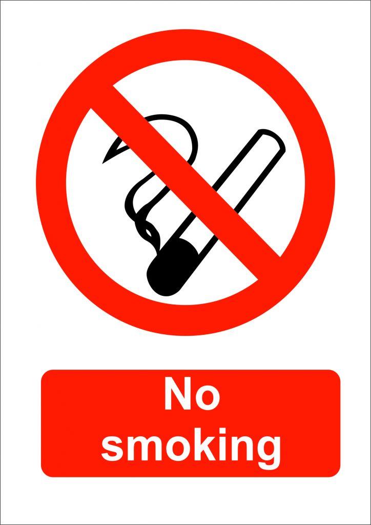 No Smoking Sign Self Adhesive Hi Tech Safety Signs