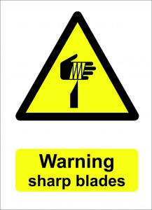 warning sharp blades