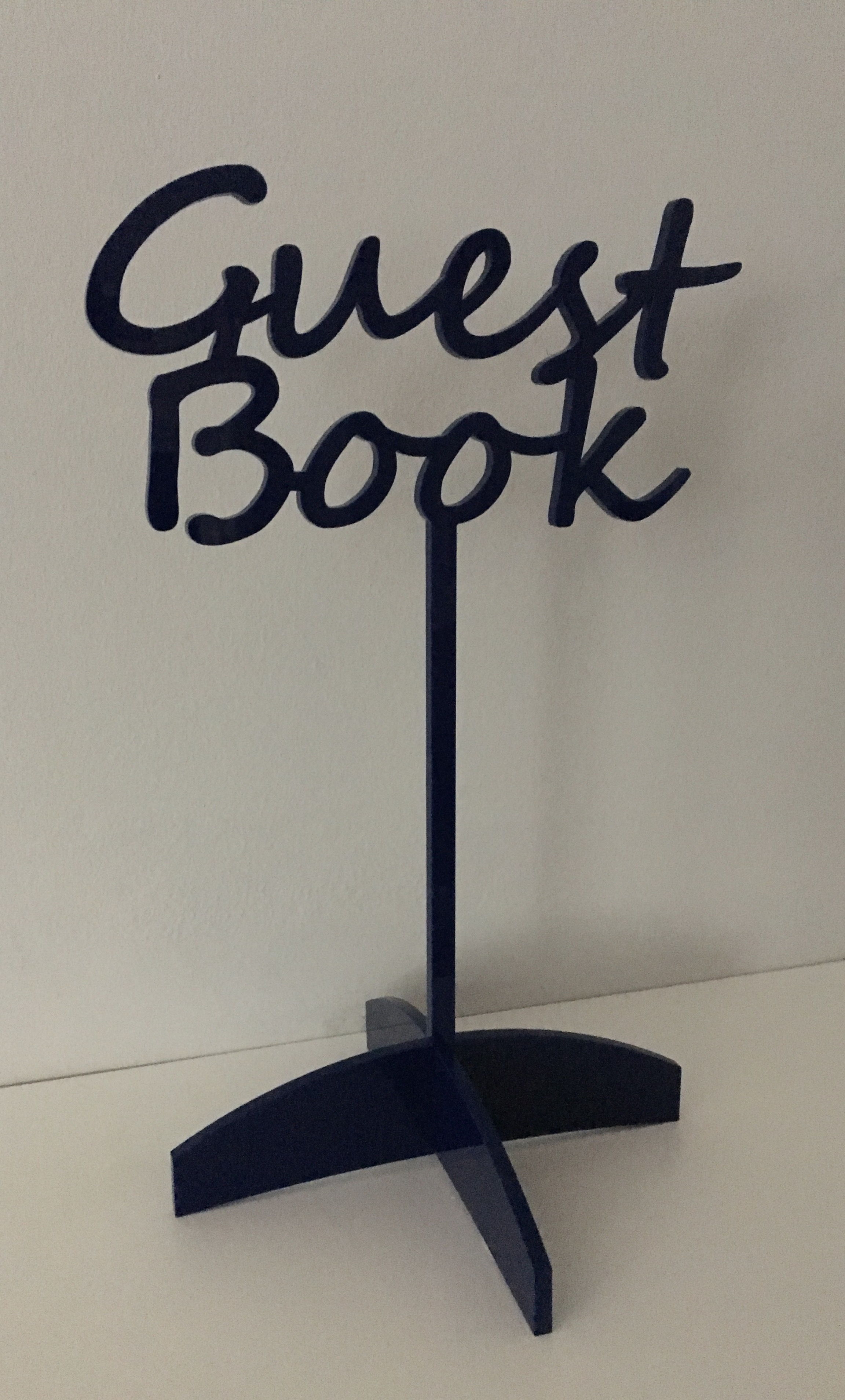 Engraved Guest Book Stand Up Sign