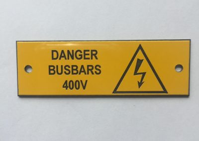 Danger Busbars 400V Flash Label
