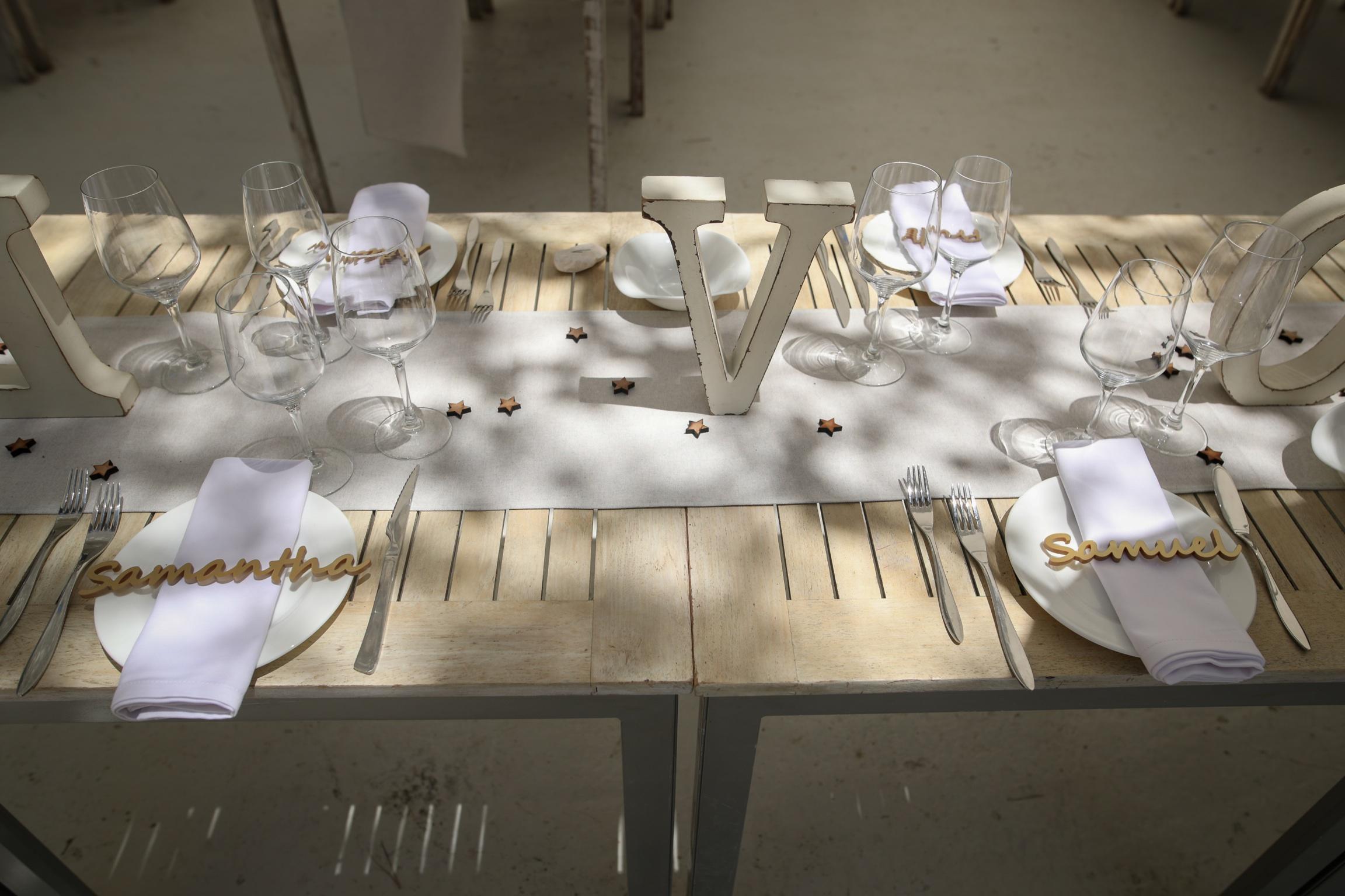 Wedding Top Table Setting