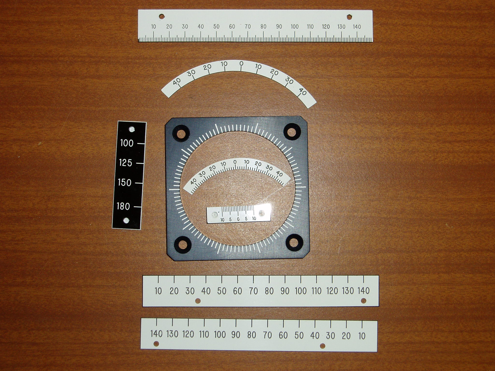 set of engraved rulers