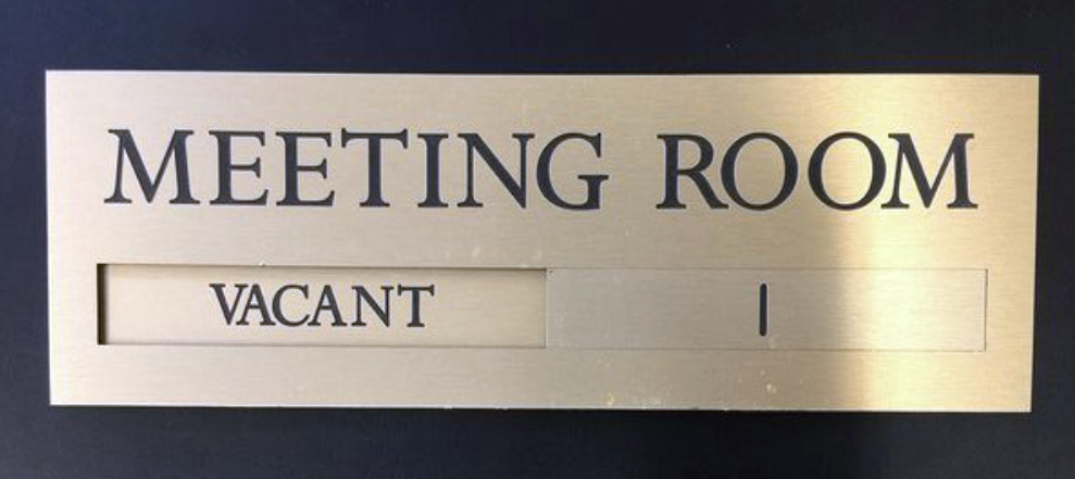 Brass Meeting Room Sign