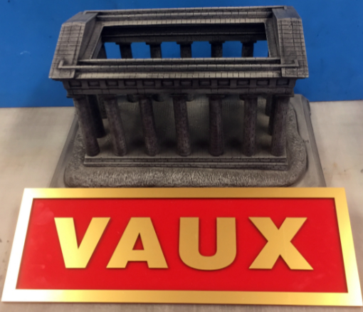 VAUX Sign with Penshaw Monument