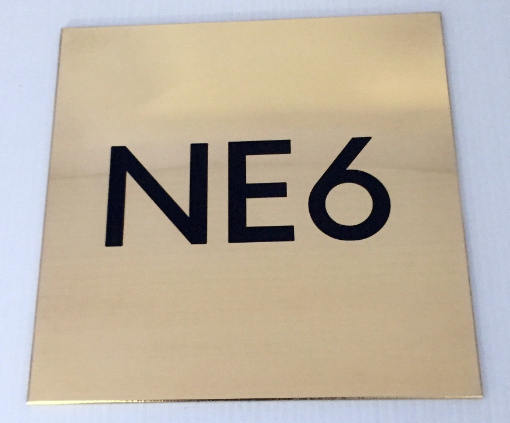Engraved Brass Nameplate