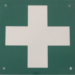 First Aid Sign From the Tyne Tunnel